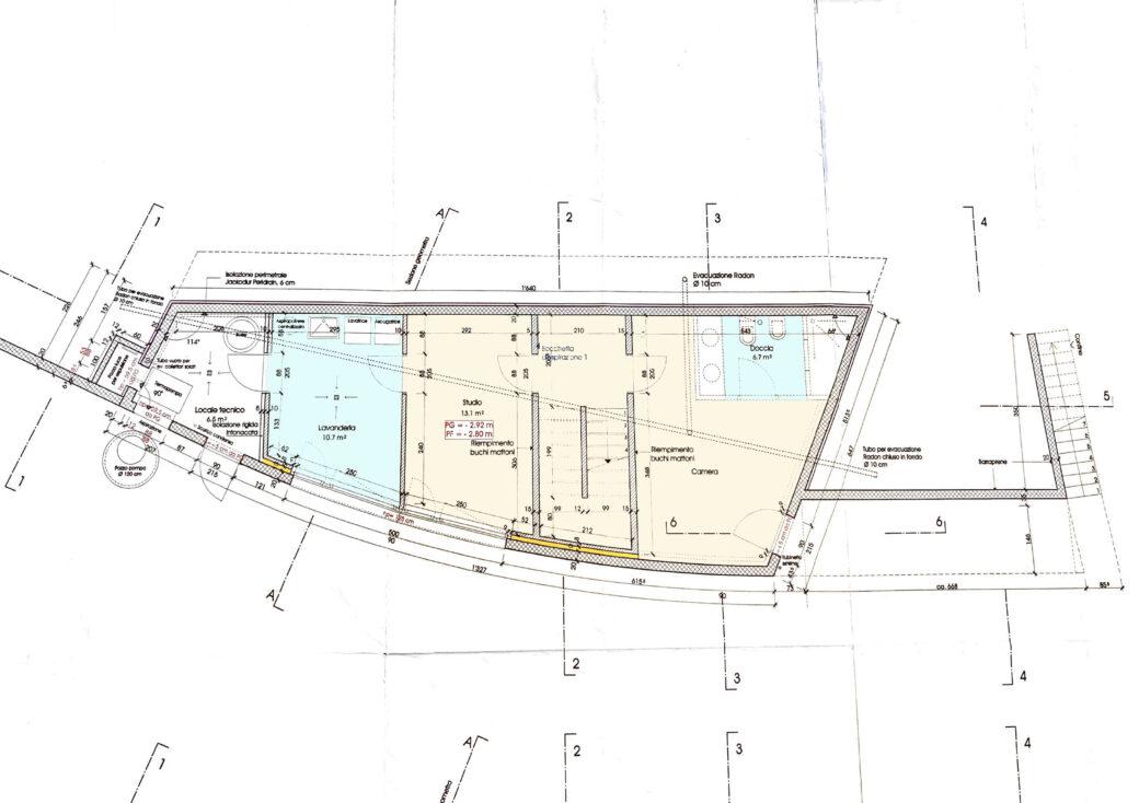 planimetria piano inferiore